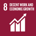 icon for Goal 8 - Decent jobs and economic growth