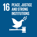 icon for Goal 16 - Peace and justice - strong institutions